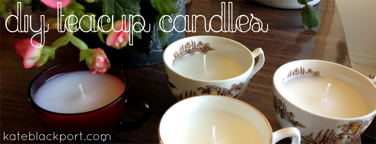 DIY Teacup Candles Tutorial - kateblackport.com