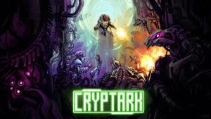 The splash image for Cryptark, artwork by Jesse McGibney.
